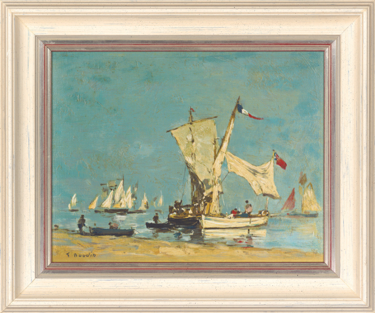 Segelboote. Louis Eugen Boudin (1824-1898)