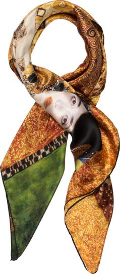 Seidentuch Gustav Klimt »Adele«, gold.