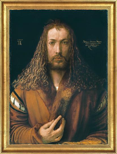 Selbstbildnis im Pelzrock. Albrecht Dürer (1471-1528).