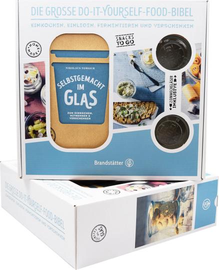 Selbstgemacht im Glas. Geschenkbox mit 2 Gläsern. Zum Einkochen, Mitnehmen & Verschenken.