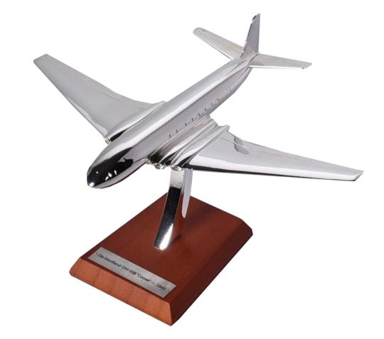 Silbermodell De Havilland DH-106 Comet - Maßstab 1:200