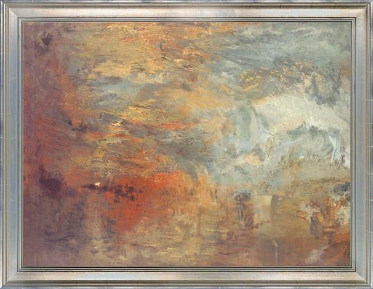 Sonnenuntergang über einem See. William Turner (1775-1851).