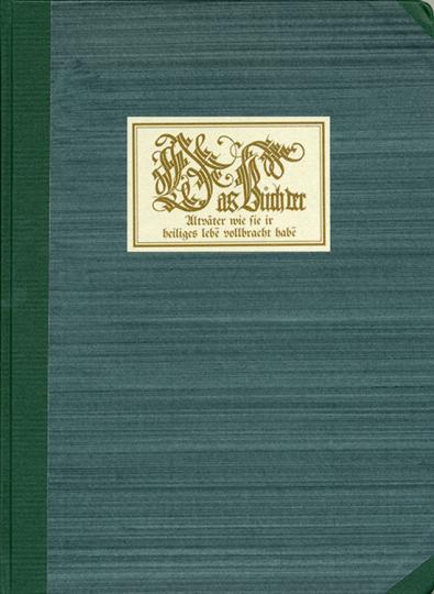 Sophronius Eusebius Hieronymus. Das Buch der Alltväter. Faksimile Reprint.