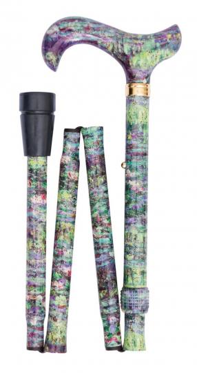 Spazierstock Claude Monet »Wasserlilien«, faltbar.
