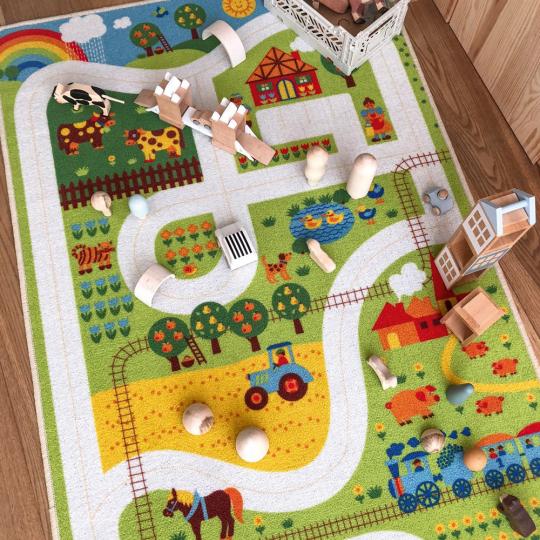 Spielteppich Bauernhof.