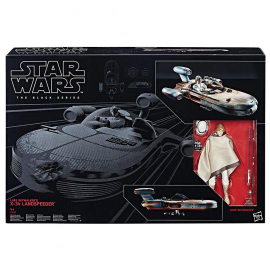 Star Wars. The Black Series. Luke Skywalker und sein X-34 Landspeeder.