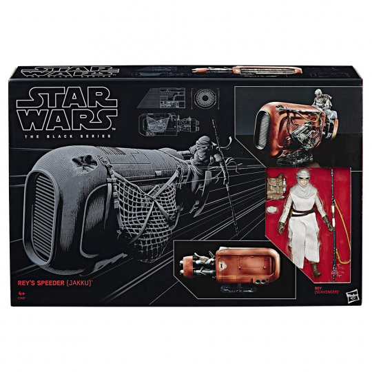Star Wars. The Black Series. Rey und ihr Speeder (Jakku).