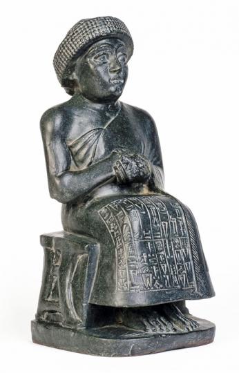 Statuette von Gudea. Mesopotamien, um 2130 v. Chr.
