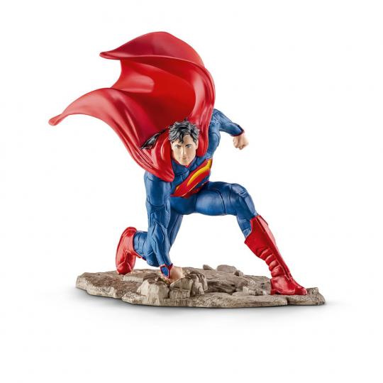 Superman, kniend. Schleich Figur.