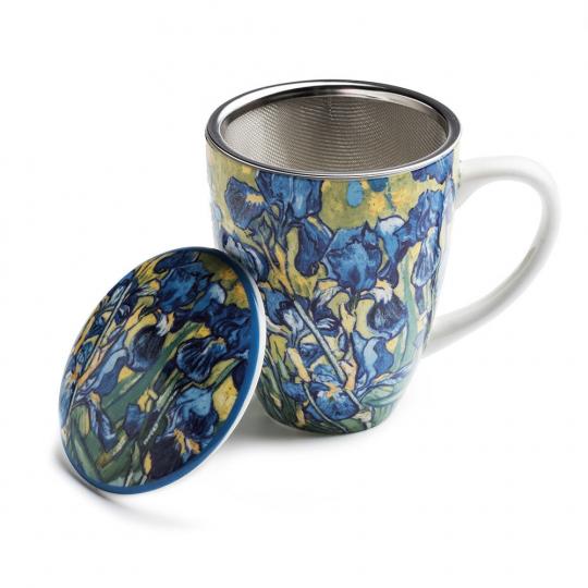 Teebecher mit Sieb Vincent van Gogh »Iris«.