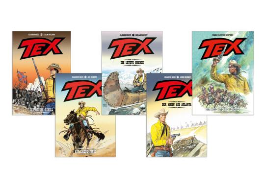 Tex Willer. Western Comic Paket. 5 Bände.