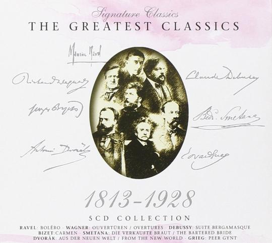 The Greatest Classics 1813-1928. 5 CD-Set.