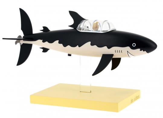Tim und Struppi-Figur »Haifisch-U-Boot«.