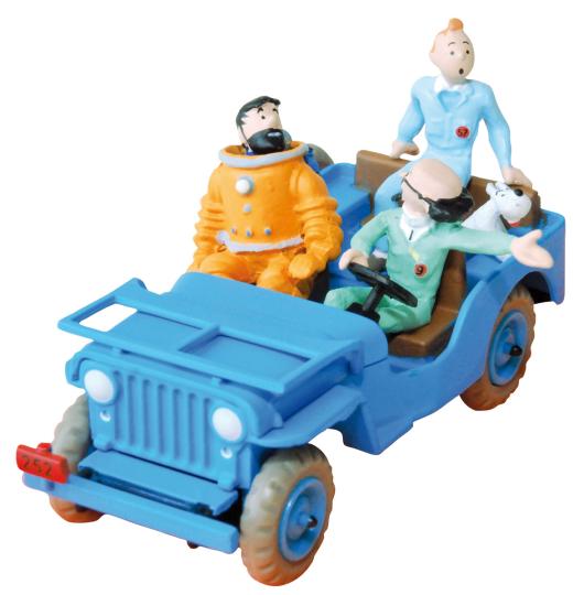 Tim und Struppi-Sammelfigur »Der blaue Jeep«.