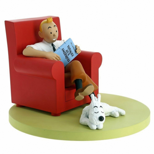 »Tim und Struppi«-Figur. Tintin at home.
