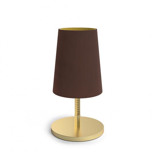 Tischlampe »Dandy«, schokoladenbraun.