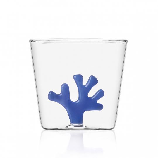 Trinkglas »Koralle«, blau.