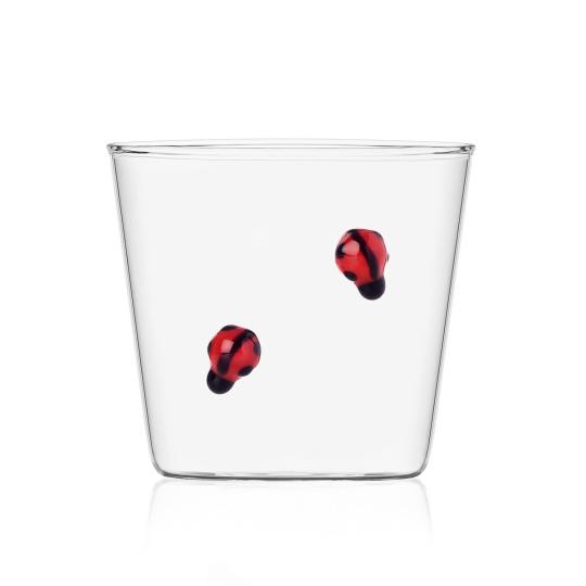 Trinkglas »Marienkäfer«.