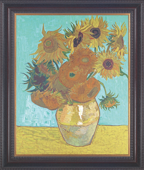 Vase mit Sonnenblumen. Vincent van Gogh (1853-1890).