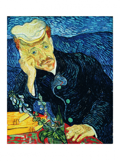 Vincent van Gogh. Bildnis Doktor Gachet. 1890.