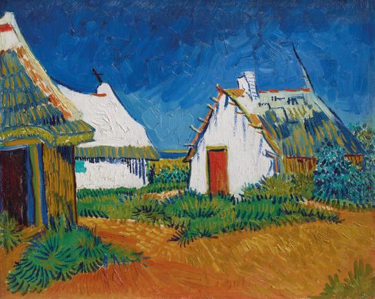 Vincent van Gogh. Drei weisse Hütten in Saintes-Maires, 1888.