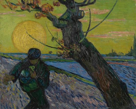 Vincent van Gogh. Sämann bei untergehender Sonne, 1888.