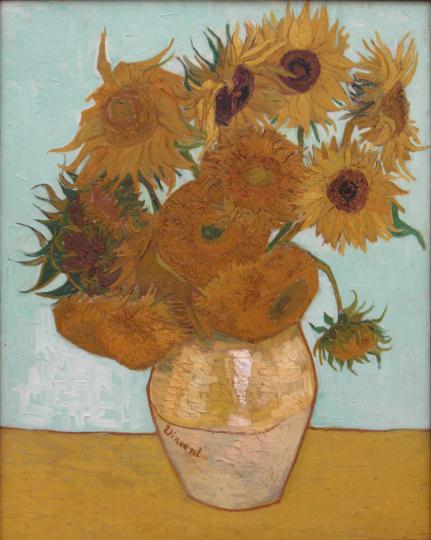 Vincent van Gogh. Sonnenblumen (Zwölf Sonnenblumen in einer Vase), 1888.