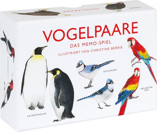 Vogelpaare. Das Memo-Spiel.