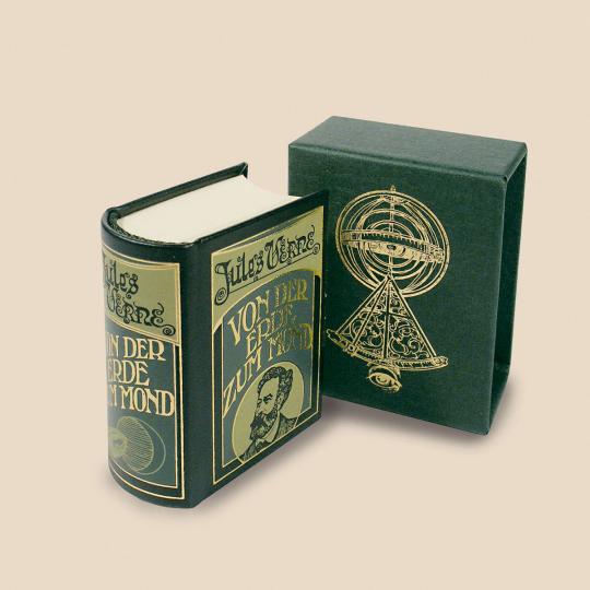Von der Erde zum Mond - Leder-Mini-Ausgabe im Schmuckschuber