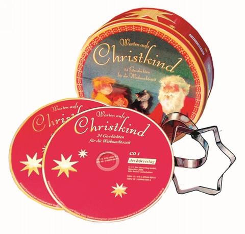 Warten aufs Christkind, 2 CDs in Blechdose mit 9 Ausstechförmchen