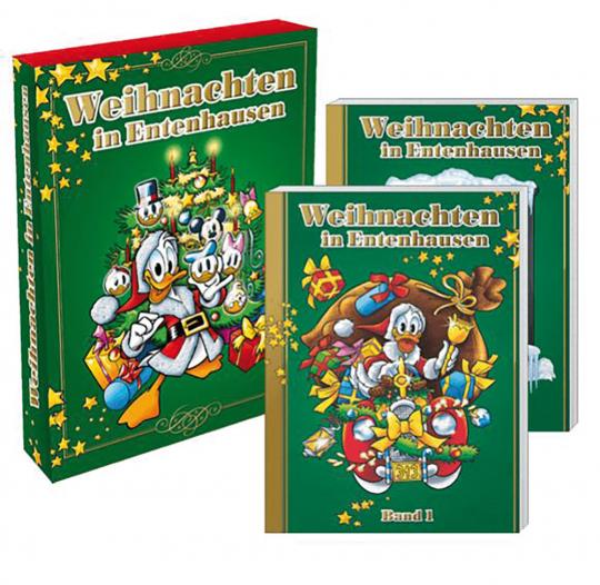 Weihnachten in Entenhausen. Sondereditionsbox mit 2 Bänden.