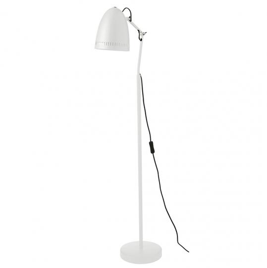 Weiße Stehlampe.