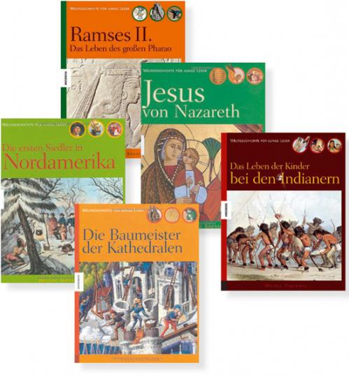 »Weltgeschichte für junge Leser«. 5 Einzelbände im Set.