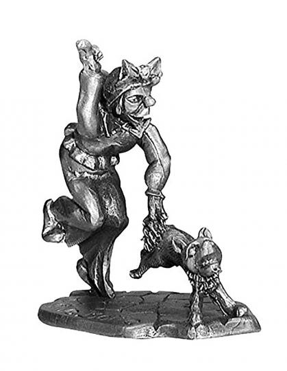 Zinnfigur - Max u. Moritz Witwe Bolte und ihr Spitz