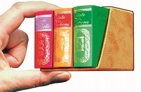 Zitate Box: Zitate des Lachens, des Lebens und der Liebe 3 Bände - Leder-Mini-Ausgaben im Schuber