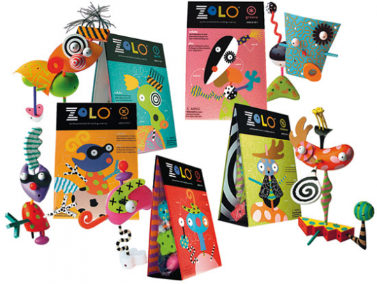 ZoLO 4 Kreativ-Sets: »Risk«, »Chaos«, »Groove« und »Quirk«.