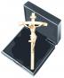 Christus 'Leonardo' mit gebogenem Balkenkreuz - Miniatur im Etui Bild 1