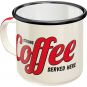 Emaille-Becher »Strong Coffee served here«. Bild 1