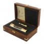 »Galileiglas« mit Wandhalterung in luxuriöser Geschenkbox. Bild 1