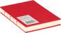 Kleines Skizzenbuch mit linierten Seiten, rot. Koptische Bindung. Bild 1