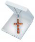 Kreuz-Anhänger - Silber mit Bernstein Bild 1