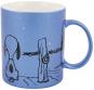 Peanuts Kaffeetasse. Snoopy und Charlie Brown. Metallic Blau. Bild 1