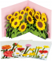 Pop-up-Grußkarten-Set »Die Blumenfelder«. Bild 1