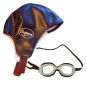 Rennfahrer Kostüm Kinder: Kappe & Brille. Bild 1