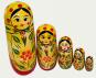 Russische Matrjoschka-Figuren 5 Stück Bild 1