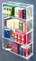Sammler-Regal für Mini-Bücher. Bild 1
