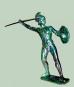 Statue Ares Messing 15 cm Bild 1