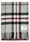 Tartan Wolldecke, grau/rot. Bild 1