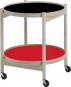 Tray Table. Tablett-Tisch rot-schwarz. Bild 1