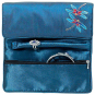 Bestickte Seiden-Schmuckrolle »Tiffany Libellen«, blau. Bild 2